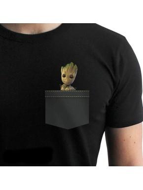 Camiseta Groot de bolsillo