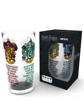 Vaso cristal Harry Potter Escudos Casas Hogwarts 500 ml