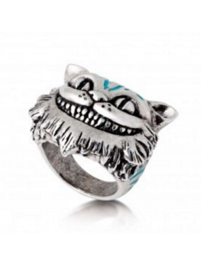 Anillo Plata Gato Cheshire Alicia Disney