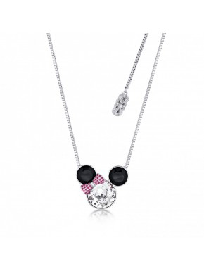 Colgante oro blanco y Swarovski Minnie Mouse Disney