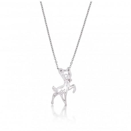 Colgante oro blanco Bambi Disney