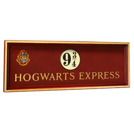 Réplica cartel anden 9 3/4 Hogwarts Express