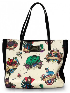Bolso Grande Marvel Tattoo