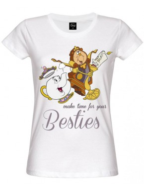 Camiseta Disney La Bella y la Bestia Besties