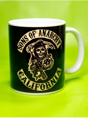 Taza Sons of Anarchy reaper logo