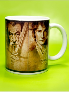 Taza bosquejo personajes El Hobbit