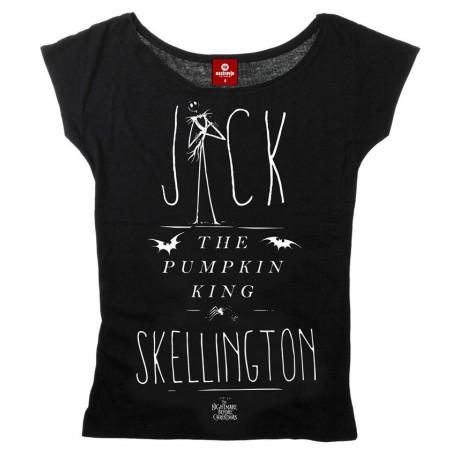 Camiseta Chica Pesadilla Antes de Navidad Jack Pumpkin King