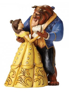 Figura Disney Bella La Bella y la Bestia Jim Shore Dancing Couple 25th Anniversary