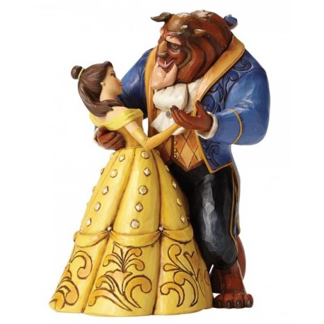Figura Disney Bella La Bella y la Bestia Jim Shore Dancing Couple 25th Anniversary