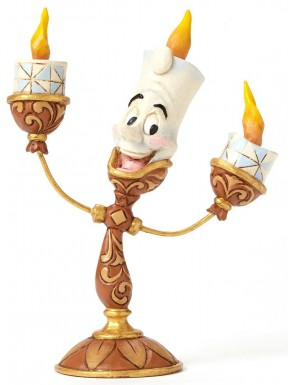 Figura Disney Lumiere La Bella y la Bestia Jim Shore Ooh La La