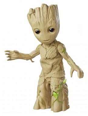 Figura Groot interactiva con luz y sonido