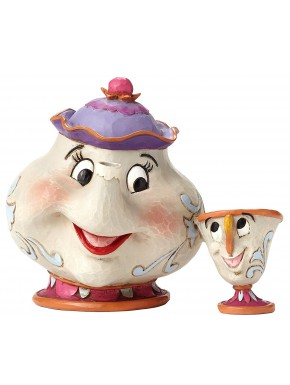 Figura Disney Mrs Potts y Chip La Bella y la Bestia Jim Shore