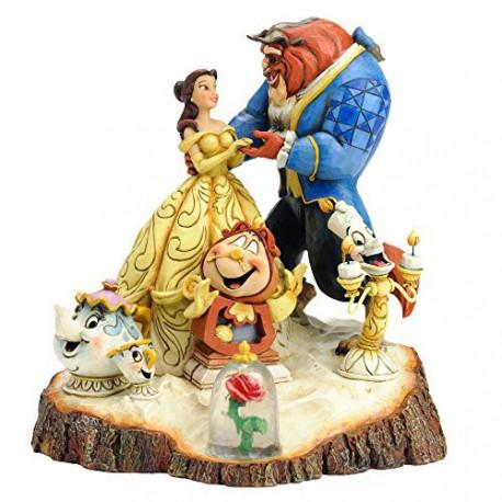 Figura Disney La Bella y la Bestia Jim Shore Tale as Old as Time