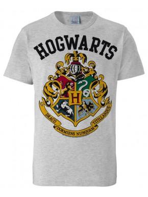 Camiseta gris Harry Potter Hogwarts Crest