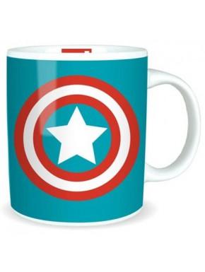 Taza Marvel Capitán América Escudo