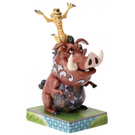 Figura Disney Timon y Pumba El Rey León Jim Shore Hakuna Matata