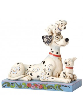 Figura Disney 101 Dálmatas Jim Shore Puppy Love 55 Aniversario