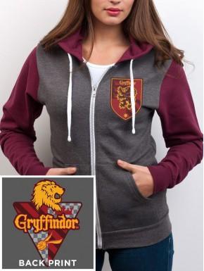 Sudadera Harry Potter Gryffindor con cremallera