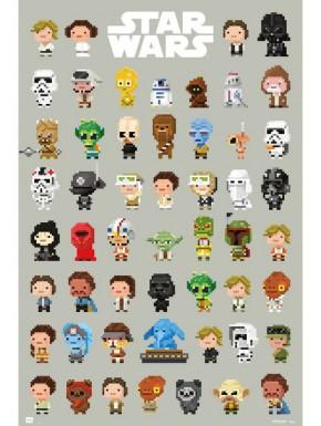 Poster Personajes Star Wars 8 bits