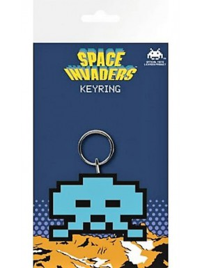 Llavero caucho Space Invaders blue