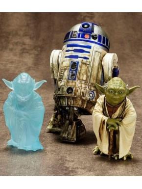 Set Figuras Yoda y R2D2 Dagobah Art Fx Kotobukiya