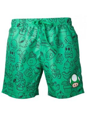 Bañador chico Super Mario green