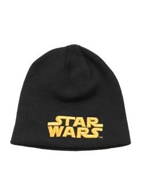 Gorro lana Star Wars logo naranja