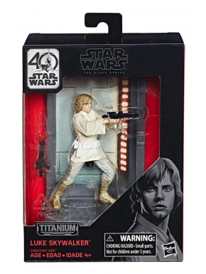 Figura Luke Skywalker Star Wars Ep IV Black Series Titanium