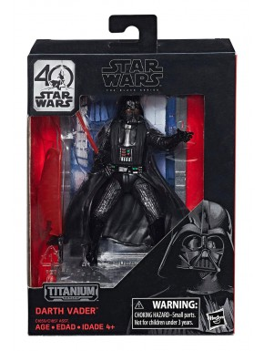Figura Darth Vader Ep IV Black Series Titanium