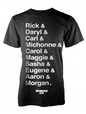Camiseta Walking Dead names