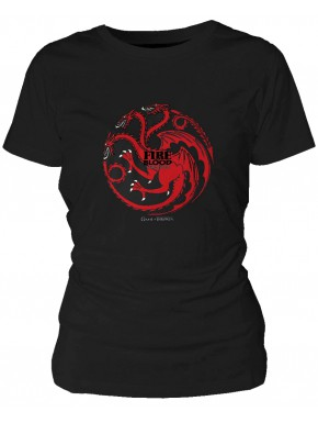Camiseta chica AZUL MARINO Game of Thrones Targaryen