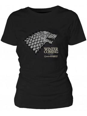 Camiseta chica Juego de Tronos Stark
