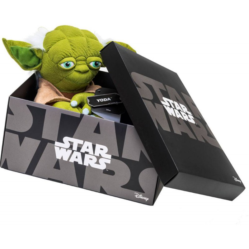 peluche yoda star wars black line solo 27 90. Black Bedroom Furniture Sets. Home Design Ideas
