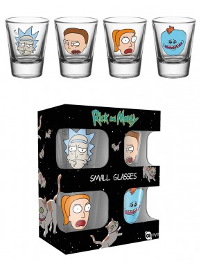 Set vasos de chupito Rick y Morty Faces