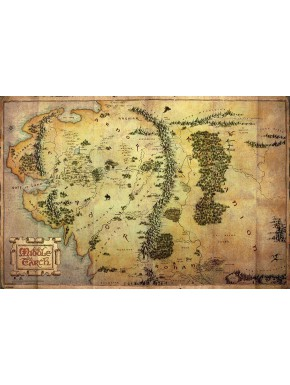 Poster Mapa de la Tierra Media Grande
