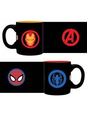 Set 2 mini tazas Spiderman y Iron Man Spider-Man Homecoming