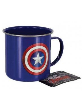 Taza Metal Marvel Capitán América Escudo