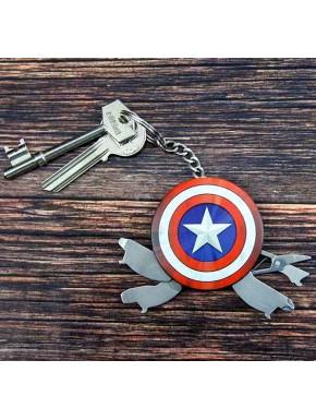 Llavero multifunción Capitán América Escudo