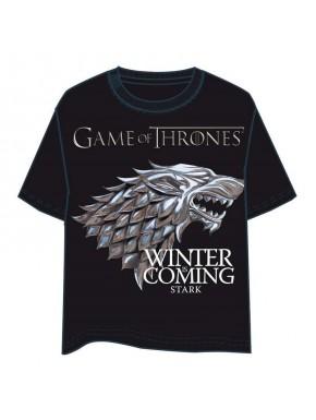 Camiseta Juego de Tronos Stark silver
