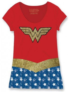 Camiseta Chica Cosplay Wonder Woman Costume DC Cómics
