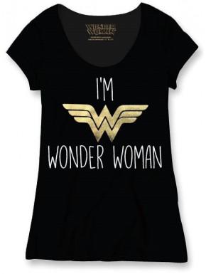 Camiseta Chica I'm Wonder Woman DC Cómics