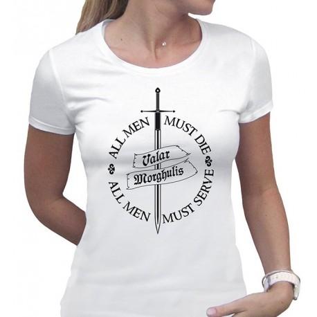 Camiseta Chica Valar Morghulis Juego de Tronos