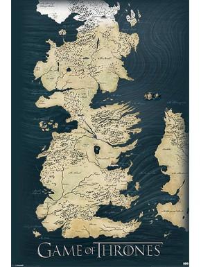 Poster Poniente Westeros Juego de Tronos 60x90