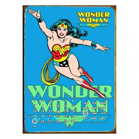 Calendario Perpetuo Wonder Woman Azul