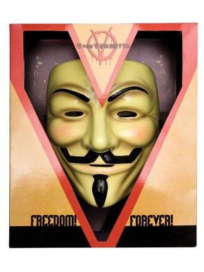 V de Vendetta Máscara de Guy Fawkes Rubies