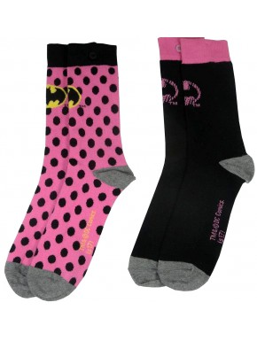 Pack 2 Calcetines Chica Batman Pink
