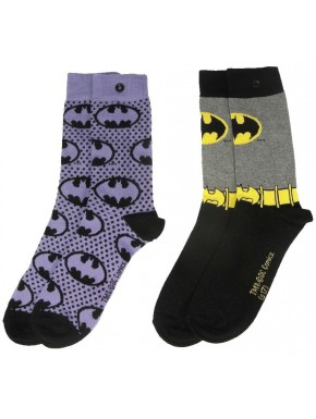 Pack 2 Calcetines Chica Batman Purple