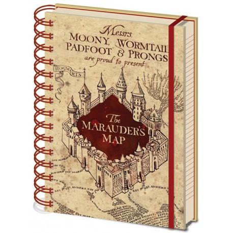 Libreta Harry Potter Mapa del Merodeadir