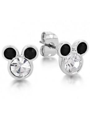 Pendientes oro blanco y Cristal Swarovski Mickey Mouse Disney
