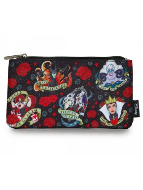 Estuche Loungefly Villanos Tattoo Disney